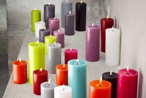différentes formes de bougies